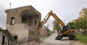 Kayseri Melikgazi Kazımkarabekir Mahallesi'nde yıkım çalışmaları başladı!