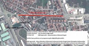 Sakarya Adnan Menderes ile Milli Egemenlik Caddesi trafiğe kapanacak!