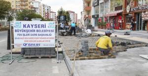 Kayseri Talas Halef Hoca Caddesi çalışmalarında sona yaklaşıldı!