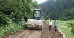 Trabzon Belediyesi Santa Harabeleri yolunu yeniliyor!