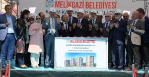 Kayseri Melikgazi Kazım Karabekir'de 392 konutun temeli atıldı!