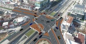 Bursa Esentepe Kavşağı'nda trafiği rahatlatacak düzenleme çalışmaları başladı!