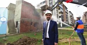 Millet mahallesi kentsel dönüşüm projesinde yıkım çalışmaları başladı!