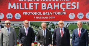 Eskişehir Millet Bahçesi projesi için TOKİ ve Türk Dünyası Vakfı anlaştı!