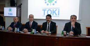 Bakan Murat Kurum TOKİ'yi ziyaret etti!
