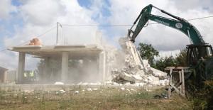 İstanbul Çatalca'da 19 kaçak yapı yıkıldı!