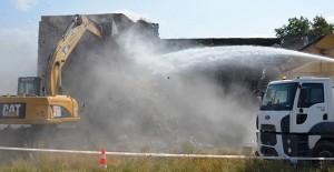 Melikgazi'de Gülük mahallesinde metruk yapılar yıkılıyor!