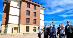 Malatya Kale TOKİ deprem konutlarında çalışmalar sürüyor!