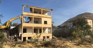 Kayseri Erenköy'de kamulaştırma çalışmaları tamamlanan yapılar yıkıldı!