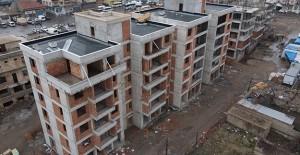 Nevşehir Karasoku kentsel dönüşüm projesinde bloklar hızla yükseliyor!
