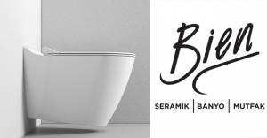 Bien Seramik'ten geometrik formlu banyo takımı; Mineral!