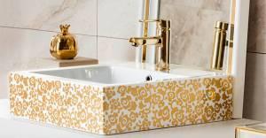 Creavit ile banyolara altın şıklığı!