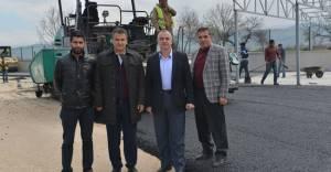 İnegöl'de katı atık aktarma istasyonu asfaltlanıyor!