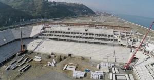 Trabzon Stadının kaba inşaatı tamamlandı!
