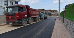 İnegöl'de asfalt kaplama çalışmaları aralıksız sürüyor!