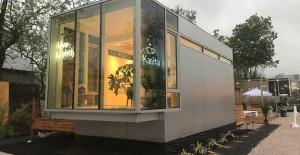 ABD'li profesörün 32 metrekarelik karavan evi!