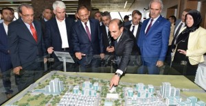 Başkan Edabali, Bakan Özhaseki'ye Yıldırım'ın dönüşüm projelerini anlattı!