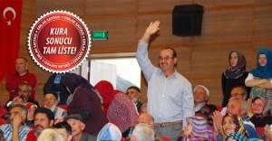 Aksaray'da emekliye özel TOKİ konutlarının kurası çekildi!