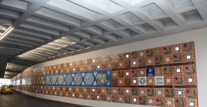 Büyükşehir'den 'Yeşil Tüp Geçidi'ne kültürel motifler