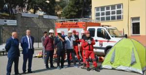 Mudanya Belediyesi okullarda depremi anlattı!
